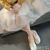 半身裙  春裝童裝紗網裙子女童白珍珠短裙兒童寬鬆半身裙中大童韓 寶貝計畫