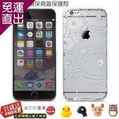 BONE iPhone 6 4.7吋彩繪背蓋保護殼透明企鵝-加送造型防塵塞【免運直出】