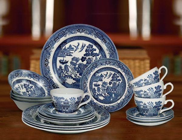 Blue Willow 20件瓷器餐具組