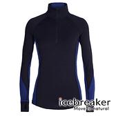 【icebreaker】ZONE 女 網眼保暖半開襟長袖上衣 BF260『深軍藍』 柔軟 舒適 羊毛 排汗 抑味 控溫 104394