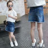 中大尺碼女童新款牛仔裙包臀裙韓版中大童女孩半身短裙子 zm4935『男人範』