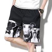 夏季短褲子男士大碼潮牌寬鬆直筒五分褲沙灘褲運動休閒 米希美衣