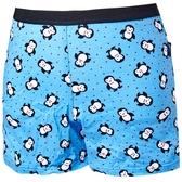 【SOLIS】俏皮企鵝系列印花四角男童褲(水晶藍)