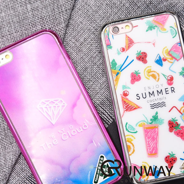 【R】夏日果汁 粉紅鑽石 電鍍邊框 手機殼 SAMSUNG 三星 S6 亮面 iPhone 6 蘋果全包邊軟殼