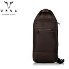 【橘子包包館】VOVA 羅迪系列胸包 單肩包 單肩後背包 VA124S05BR 咖啡色 胸包