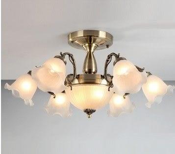 設計師美術精品館鐵藝燈具歐式燈半吊燈 簡歐時尚客廳臥室餐廳燈5075-6 2