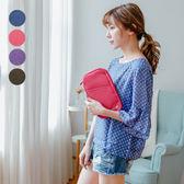 多功能純色證件收納包 化妝包 手拿包 證件包 隨身包 (現+預)《SV8580》快樂生活網