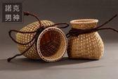 魚簍 竹編 手工 竹簍小竹籃竹筐 裝飾 擺件 插花簍 舞蹈道具魚簍 情人節禮物