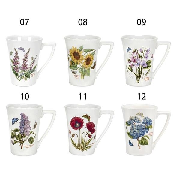 (贈托盤)英國Portmeirion- 經典植物園系列-280ml馬克杯雙人下午茶組(二杯一壺)