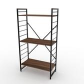 (組)特力屋萊特三層架黑框/深木紋-80x40x158cm