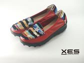 XES 星星横條彩圖懶人鞋 優質時尚 女款 紅色