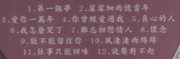 陳思安 國語 鋼琴酒吧 第一輯 CD (音樂影片購)