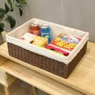 編織收納筐桌面草編框