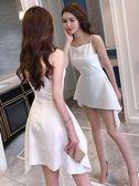 尾牙禮服 洋裝小禮服超仙女夏季韓版小香風吊帶洋裝性感收腰顯瘦夜場裙子 卡菲婭