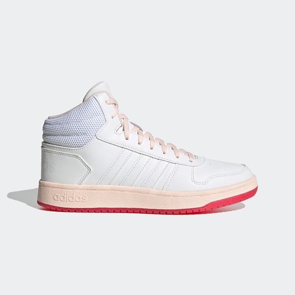 Adidas Neo Hoops 2.0 Mid [FW9355] 女鞋 運動 休閒 籃球 中筒 穿搭 愛迪達 白 粉