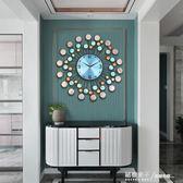 真貝殼現代簡約鐘表掛鐘時鐘客廳創意時尚個性家用藝術掛表石英鐘igo 秘密盒子