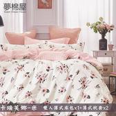 100%棉5尺雙人薄式床包三件組「卡瑞芙娜-米」夢棉屋