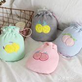 硅膠熱水袋注水暖宮袋毛絨防爆暖寶寶小清新暖手寶韓版可愛暖水袋 金曼麗莎