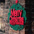 聖誕裝飾 花環挂飾創意玻璃貼聖誕節櫥窗貼紙挂件無紡布門窗裝飾品