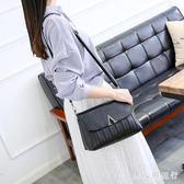 女包秋季新款女士中年單肩簡約斜挎大容量媽媽百搭軟皮小包包 DR6114【男人與流行】