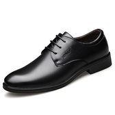 皮鞋 皮鞋男休閒男士商務正裝夏季軟底英倫西裝牛皮透氣黑增高男鞋