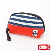 CHUMS 日本 SxN 隨身收納包 化妝包 深藍條紋/珊瑚 CH600692N007