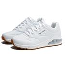 SKECHERS 慢跑鞋 運動鞋 UNO 2 白 皮革 氣墊 休閒 女 (布魯克林) 155543WHT