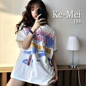 克妹Ke-Mei【AT69356】採購精選任二件188NAUGH少女字母寬鬆T恤