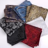 英倫復古花紋口袋方巾男士西裝口袋巾手帕巾