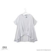 【INI】簡單俏麗、前短後長A字下擺上衣.淺灰色