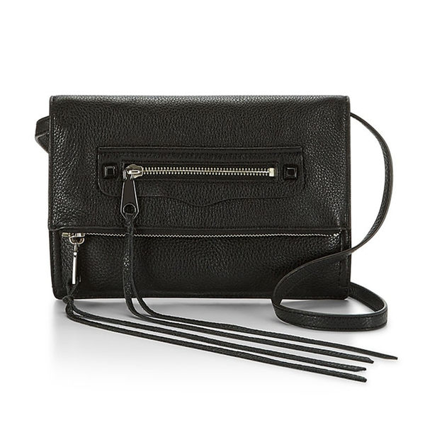 【Rebecca Minkoff 】 Small Regan Clutch 真皮斜背包 肩背包 (黑色)