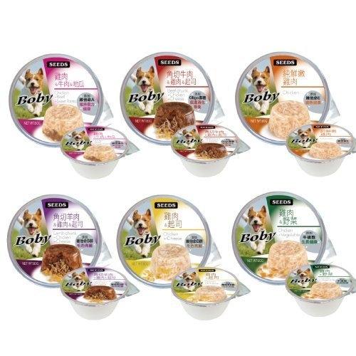 *KING WANG*【6罐組】聖萊西Seeds惜時《boby 特級機能愛犬餐罐》六種口味-80g