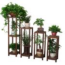 實木花架 陽臺落地花盆架多層客廳簡約木質室內吊蘭綠蘿花架子 快速出貨