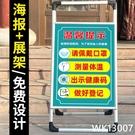 請出示健康碼行程碼疫情防控提示牌防疫溫馨提示標識牌新冠宣傳海報展架掃碼登記二維 wk13007