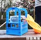 充電式抽水機 藤原電動抽水機手提式戶外小型澆菜12v電瓶農用充電抽水泵 CY 自由角落