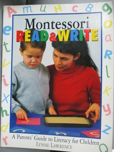 【書寶二手書T4/少年童書_WFJ】Montessori Read And Write: A Parents' Guid