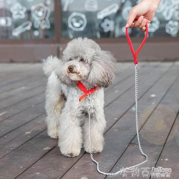 狗狗錬子鐵錬狗狗牽引繩泰迪金毛小型犬中型犬項圈寵物用品遛狗繩  茱莉亞