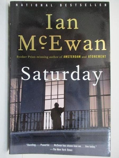 【書寶二手書T2/原文小說_AFT】Saturday_McEwan, Ian