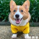 柯基狗狗雨衣四腳防水寵物用品衣服春夏裝比熊雪納瑞法斗雨衣全包  自由角落