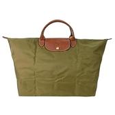 【南紡購物中心】LONGCHAMP LE PLIAGE短把手提旅行袋(大/卡其綠)