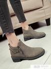 馬丁靴女英倫風裸靴子女學生切爾西短靴韓版...