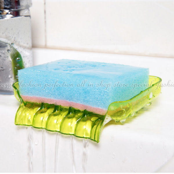 【GE327】瀝水香皂盒 炫彩浴室瀝水吸盤肥皂盒 海綿菜瓜布瀝水盤 肥皂盤 肥皂架★EZGO商城★