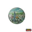 【收藏天地】台灣紀念品*水晶玻璃球冰箱貼-我愛台北