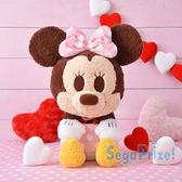 日本SEGA PLAZA 景品  迪士尼 粉紅米妮三種擺法絨毛娃娃