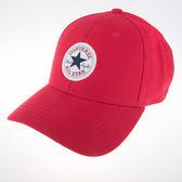 CONVERSE  復古 休閒 運動 鴨舌 運動帽-紅 10003815-A02