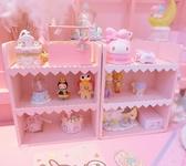 化妝品收納盒 少女心木質三層置物架愛心花邊桌面收納盒化妝品乳液整理架