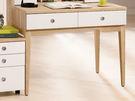 【森可家居】金美3.3尺二抽書桌 (不含桌上架) 7ZX626-5 木紋質感 北歐 無印風