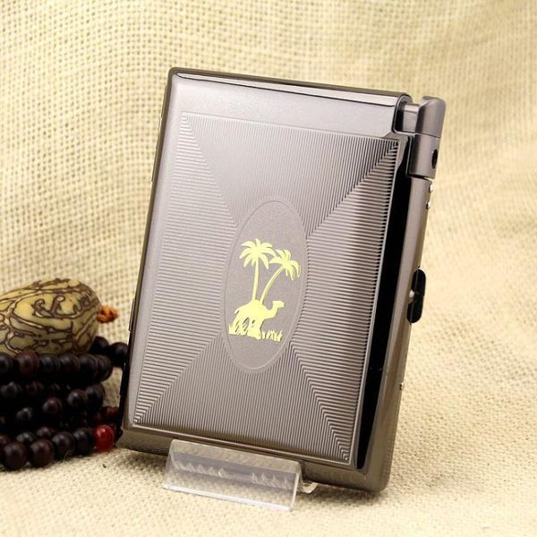 煙盒煙具 - 20支裝雙色電鍍明火打火機頂好煙盒【韓衣舍】