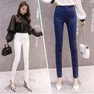2020春季新款西裝職業女褲高腰顯瘦側拉...