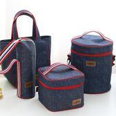 保溫袋 飯盒袋保溫手提袋防水便當包零食包布袋牛津布圓形帶飯包-凡屋